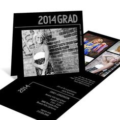 Graduation Announcements -- Striped Success Folded | Pear Tree Greetings