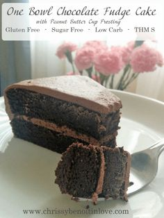 Chrissy Benoit's One Bowl Chocolate Fudge Cake (THM S)