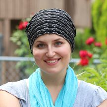 Light, textured slouchy hat is great for chemo patients looking to stay cool on hot days.