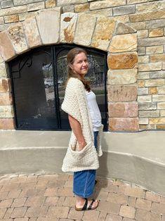 Friendship Pocket Shawl Crochet PATTERN Shoulder Wrap With   Etsy