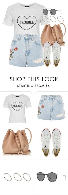 """""""Sin título #12430"""" by vany-alvarado ❤ liked on Polyvore featuring Topshop, Lancaster, Converse, ASOS and Ray-Ban"""