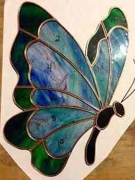 Stained Glass Butterflies Stained Glass Butterflies Patterns Stained Glass Butterflies Made To Order Butterfly Stained Glass Sun Catcher On Stained Glass Butterflies Simple Stained Glass Butterfly Pat Stained Glass Ornaments, Stained Glass Flowers, Stained Glass Suncatchers, Faux Stained Glass, Stained Glass Lamps, Stained Glass Designs, Stained Glass Panels, Stained Glass Projects, Stained Glass Patterns