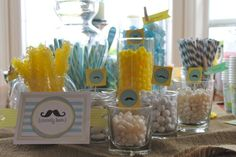Little MAN baby shower CANDY BAR!