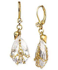 Betsey Johnson Teardrop Crystal Earrings. I love Betsey Johnson jewelry.