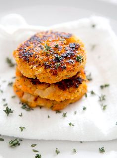 SWEET POTATO QUINOA PATTIES via A House in the Hills