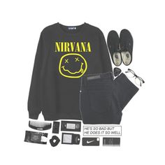 """-Nirvana-"" by unicorns-in-cloud9 ❤ liked on Polyvore featuring Retrò, Chicnova Fashion, Chanel, Nobody Denim, Topshop, NIKE, Vans, Cleanse by Lauren Napier, shu uemura and KEEP ME"