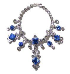Ursula Sturmer Wearable Artisan Silver and Sapphire Necklace Dollhouse Miniature #UrsulaSturmer