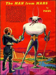 The Man From Mars Ilustração Frank Rudolph Paul