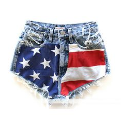 American Flag V line Shorts