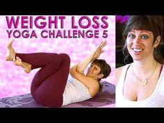 YOGA Weight Loss Challenge Workout #5 - 20 Minute Fat Burning Yoga Meltdown Beginner & Intermediate - YouTube