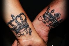Tattoo crown are a good choice for a small tattoo. It can be used as a couple tattoo as well.