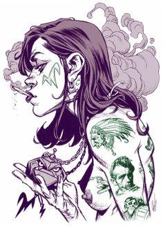 [tattoochick.jpg] http://wahltowahlart.blogspot.com.es/2006/04/miscellaneous.html