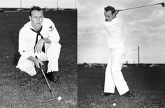 """After his roommate was killed in an automobile accident, well-established pro golfer Arnold Palmer decided to join the Coast Guard in 1950. He spent three years in the service working the majority of his enlistment in Cleveland as a yeoman assigned to the U.S. Coast Guard Great Lakes commanding officer where he took photos of #USCG personnel in the Great Lakes for new identification cards. Palmer said his service in the Coast Guard made him """"a better person for the world."""""""