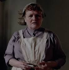 Image result for downton abbey mrs. hughes talking