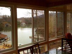 Screened porch at Smith Mountain Lake Southern Porches, Sunroom, Mountain, Windows, Sunrooms, Winter Garden, Solarium Room, Ramen, Window