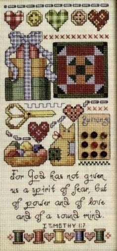 Cross-stitch For God Has, part 1... Schematic cross stitch Stitchers Sampler 01