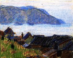bofransson:  Evening on the North Shore Clarence Gagnon - 1924