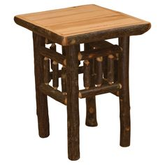 Fireside Lodge Furniture Hickory Open End Table | from hayneedle.com