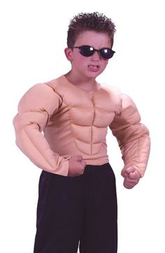 Muscle Shirt Child Costume - Small (4-6)