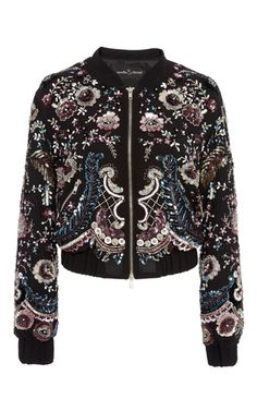 Cinder Lace Bomber by NEEDLE & THREAD for Preorder on Moda Operandi