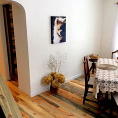 Customer submitted photo of our beetle kill pine flooring. Turned out pretty nice.