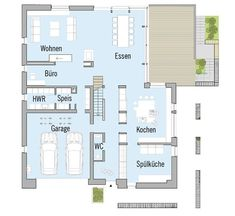 Town Country Haus, Family Organizer, Beach Ready, Other Rooms, House Floor Plans, Bauhaus, Ground Floor, Architecture Details, Family Life