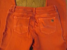 MICHAEL KORS Colored Skinny Orange Spice Stretch Jeans, Size 4, ONLY $41.99 & FREE Shipping