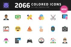 Nucleo - 2066 Colored Icons by Nucleo on Creative Market