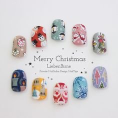 Merry Christmas★1年に1度の大イベント!クリスマスネイルチップのご提案♪包装紙をそのままネイ�