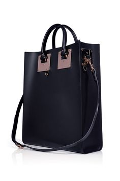 The Tote  The delicate rose gold hardware adds a new level of chic to this office staple.  Sophie Hulme Rose Gold Tote, $980; stylebop.com