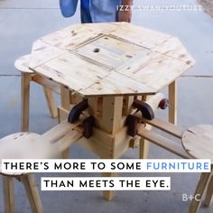 awesome inventions mind blown \ awesome inventions . awesome inventions gadgets . awesome inventions mind blown . awesome inventions life hacks Cool Furniture, Furniture Design, Furniture Ideas, Funny Furniture, Folding Furniture, Homemade Furniture, Diy Furniture Videos, Tiny House Furniture, Victorian Furniture