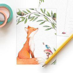 Postkaart Natuurlijke liefde   Vos