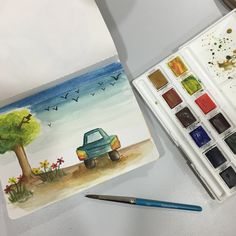 Zero technique in watercolour but had loads of fun