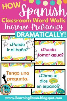 Spanish Classroom Word Walls