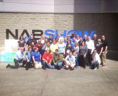 The Freeman team getting ready to kick off the #NABShow 2014! (National Association of Broadcasters). #FreemanCo #TrueBlue #NAB
