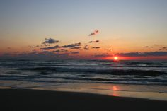 Sunrise--favorite time to experience an Outer Banks beach!