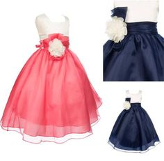 2016 Navy Blue Coral Wedding Flower Girls' Dresses Children Birthday Party Ball Gown Gathering Pageant Dresses For Kids Handmade Flower New One Shoulder Flower Girl Dresses Pink Princess Flower Girl Dresses From Kingdresses_lady, $66.92  Dhgate.Com