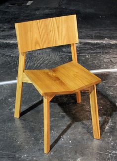 Carlos Ortega Design - Stackable, solid oak chairs debut at Feria Habitat Valencia 2012