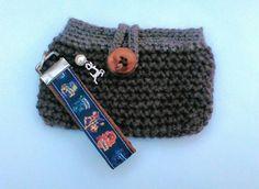 Harry Potter Tasche mit Schlüsselband, gehäkelt, braun, Wolle,Federn,Wingardium Leviosa handmade (136) von UlrikesSmaating auf Etsy