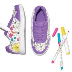 Sneakers With A Personal Kick   Avon Wear your own design! Personalizable white sneakers designed to let kids express their creative side. #shoes #kidsfashion