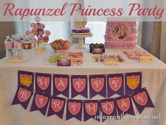 Rapunzel birthday party. #rapunzel #tangled #printablebirthday