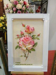 ru / MC on the Formula - Embroidery - timon-in Ribon Embroidery, Ribbon Embroidery Tutorial, Ribbon Flower Tutorial, Embroidery Designs, Ribbon Art, Ribbon Crafts, Flower Crafts, Ribbon Rose, Fabric Flowers