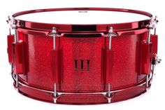 WFLIII Signature Aluminum Snare Drum 14x6.5 Rockin Red Sparkle w/ Red Hardware