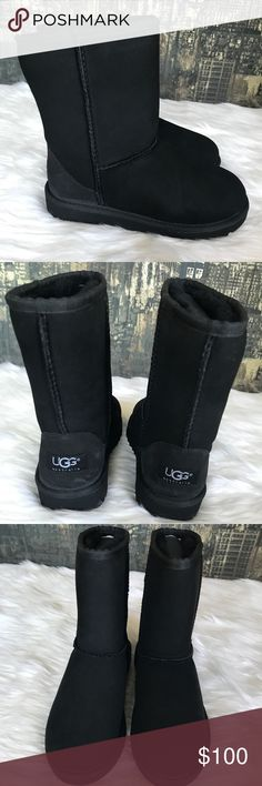 🆕🍁UGG Classic Short Girl's Boots 🍁 Brand New UGG Classic Short Girl's Boots in Black. New without tags or box. No trades. UGG Shoes Boots