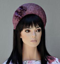 Purple Crown Headband Halo Headpiece, Kate Middleton Hat, Burgundy Fascinator Hat, Ladies  Maroon Hat, Purple Headband Crown