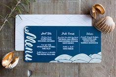 ocean inspired menu
