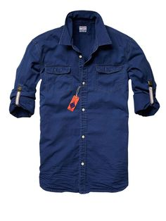 Shop the latest men's clothing & apparel from the official Scotch & Soda webstore. Cool Shirts, Casual Shirts, Latest Clothes For Men, Denim Shirt Men, Tactical Clothing, Camisa Polo, Mens Clothing Styles, Scotch Soda, Shirt Style