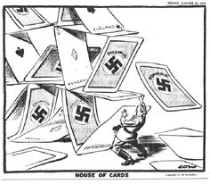 Hitler's House of Cards by David Low (Aug 1944)