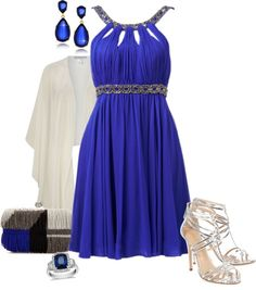 """""""Bold in a Blue Dress"""" by sherry7411 on Polyvore"""