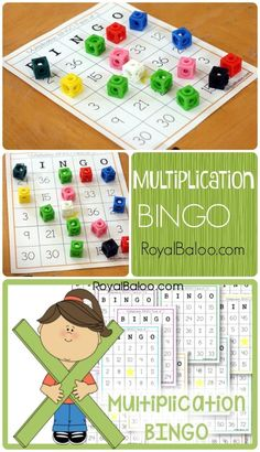 Free Multiplication BINGO. Practice multiplication facts 1 through 12.